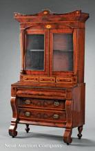 Inlaid Mahogany Secretary Bookcase