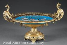 Gilt Bronze-Mounted Japanese Cloisonne Charger