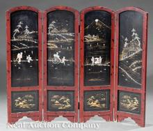 Two Japanese Mother-of-Pearl Screens