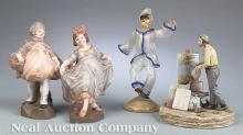 Fourteen Continental Porcelain Figures