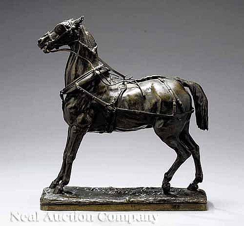 A Continental Bronze Figure of a Horse, late