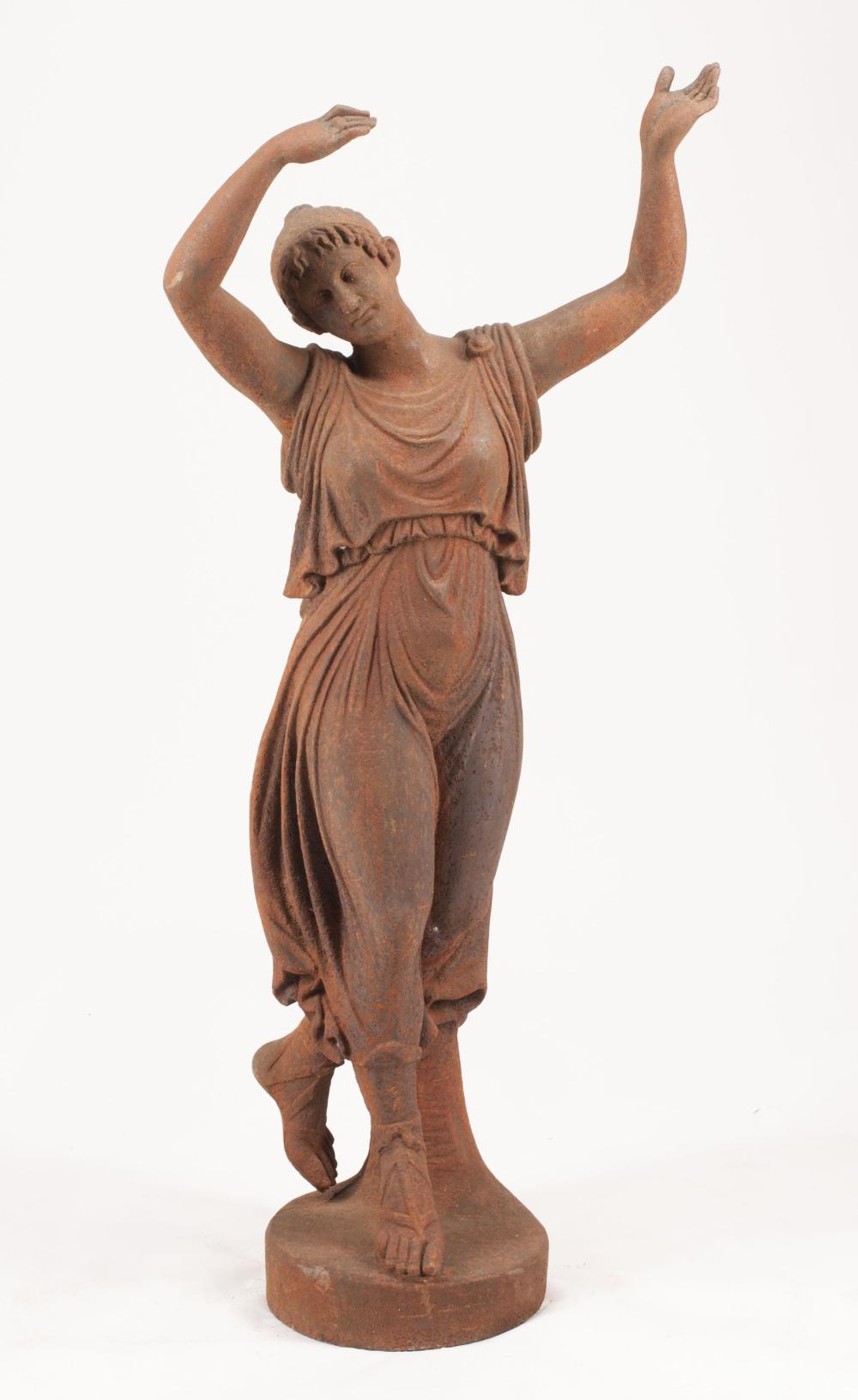 Cast Iron Figure of a Classical Maiden Dancing