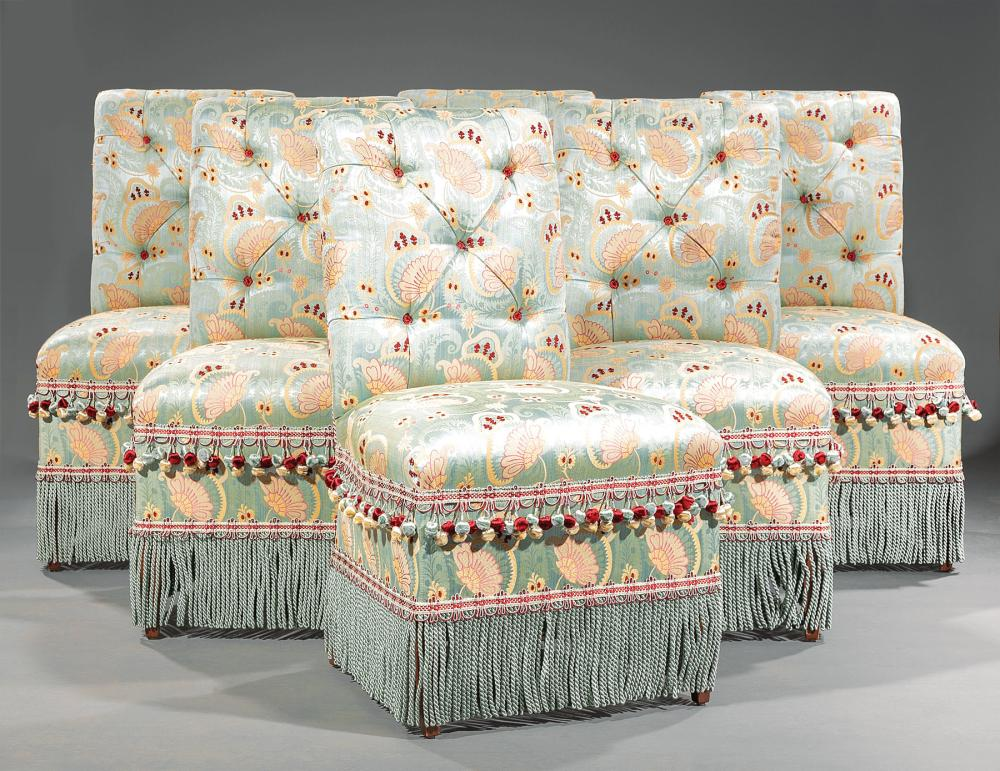 Custom Scalamandre Upholstered Side Chairs