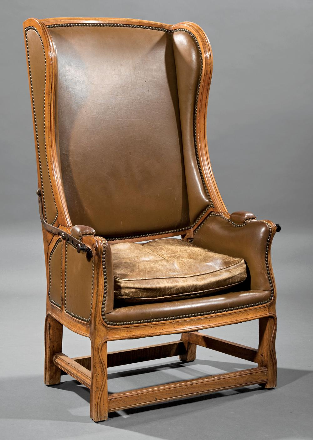 Louis XV-Style Carved Fruitwood Invalid's Chair