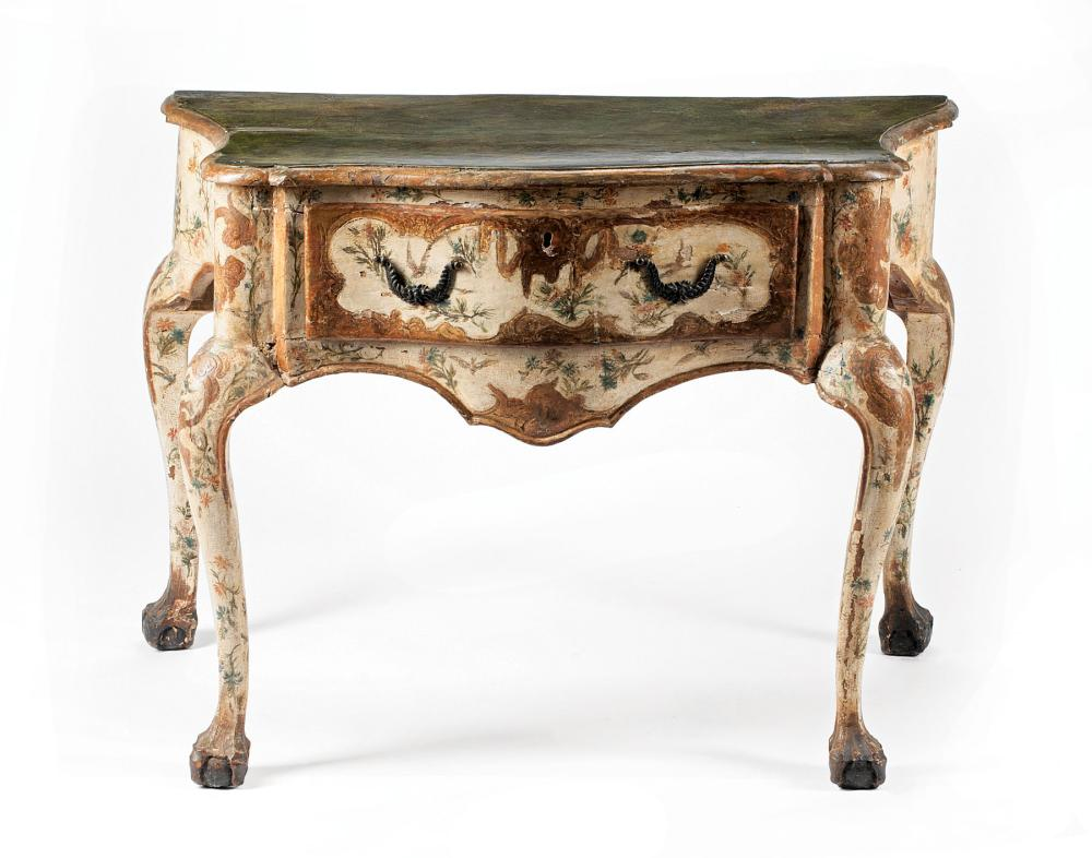 Venetian Rococo Painted Console Table