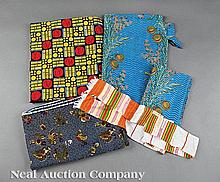 A Group of Five African Cotton Textiles