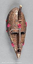An African Copper-Clad Carved Wood Mask