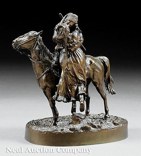 Russian Bronze of a Cossack on Horseback