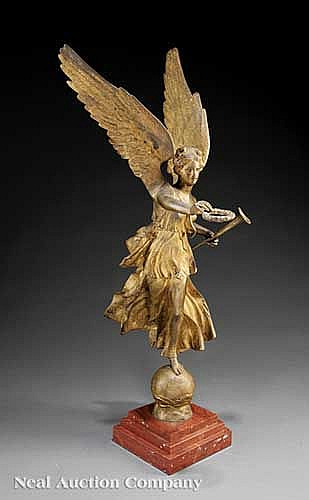 Continental Gilt Bronze Figure of Victory