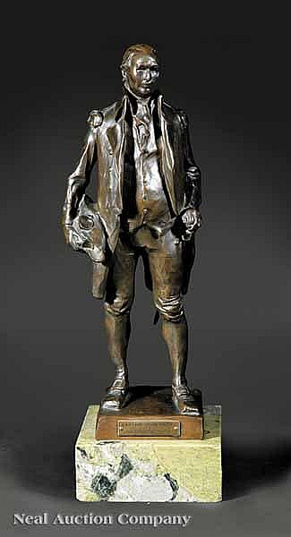 A Bronze Figure of Commodore John Barry