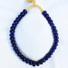 African Sapphire Glass Trade Bead Necklace