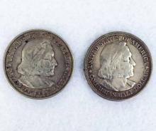 (2) Columbian Exposition Commemorative Coins