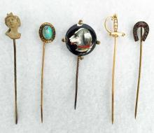 Collection Of Gold Antique Hat Pins