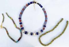 (3) African Trade Bead Necklaces