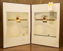 (2) Salvador Dali Christ of Gala Lithographs