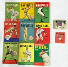 Collection of Baseball Books 1944 - 1952