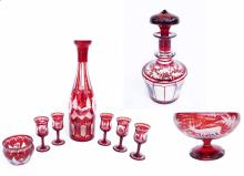 19th Century Bohemian Ruby Glass