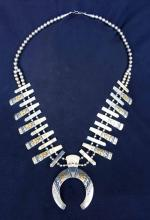 Thomas Singer Gold and Silver Squash Blossom Necklace