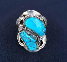 Native American Sterling and Turquois Ring