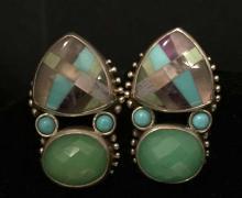 STEPHEN DWECK Sterling Silver Designer Earrings
