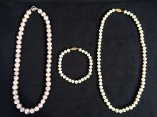 (3pcs) Pearl Necklaces and Bracelet