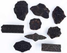 Antique Indian Hand Carved Wood Sari Block Stamps