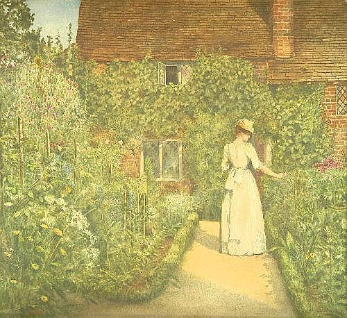 Sir Philip Burne-Jones (1861-1926) A Surrey Garden