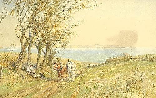Percy Robertson (b.1868) Resting The Team
