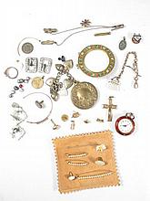 ASSORTED COSTUME JEWELRY: STERLING, ETC.