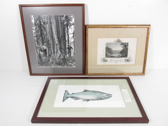 THREE FRAMED PRINTS: DARIUS KINSEY, HARPER'S FERRY, ETC.