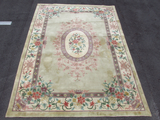 Contemporary Floral Wool Area Rug 11 4 X 8 2