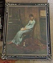 ART:LADY WITH A SETTER (PRINT)