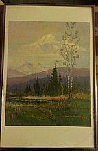 ART: MOUNTAINS  (SIGNED PRINT) BY SCOTT MCDANIEL