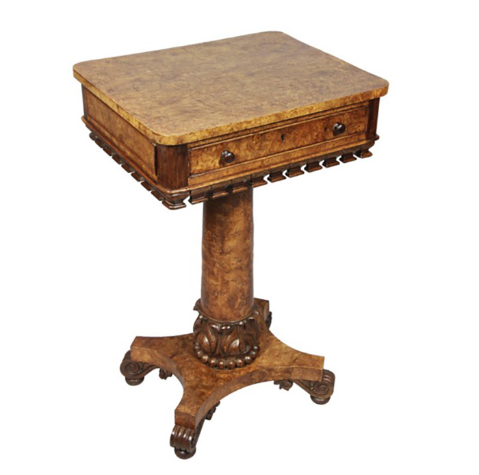 William IV Pollard Oak And Carved Table