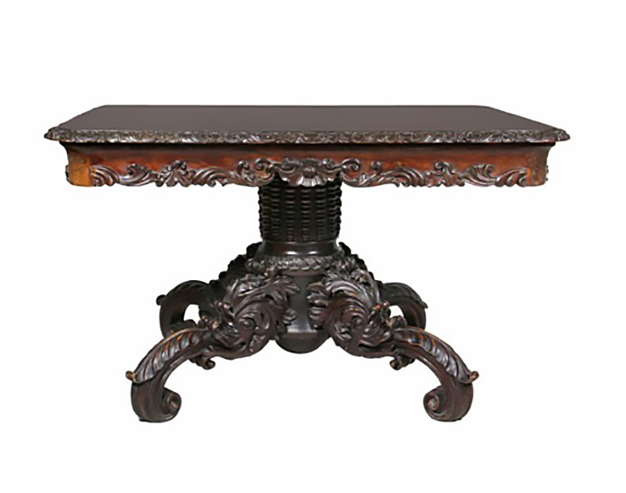 Wonderfully Carved Italian Walnut Center Table