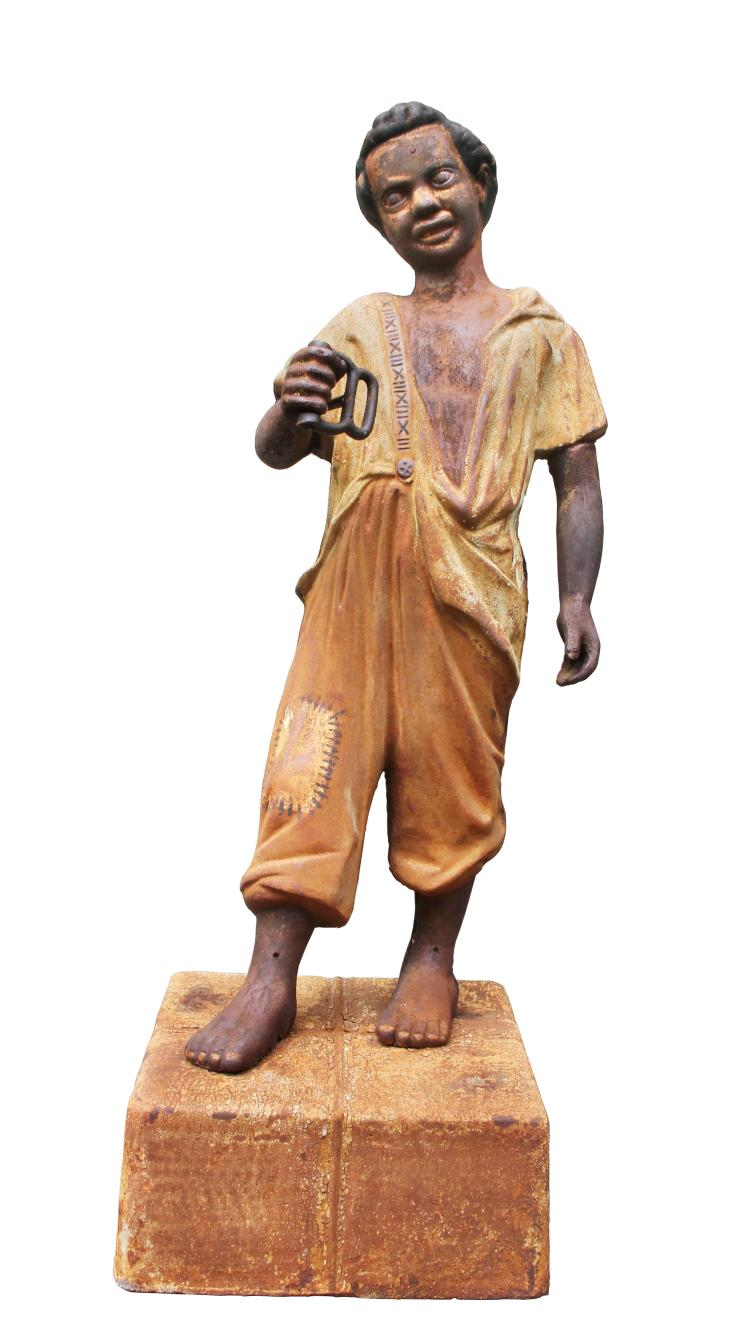 American Cast Iron Hitching Post Figure Of A Boy
