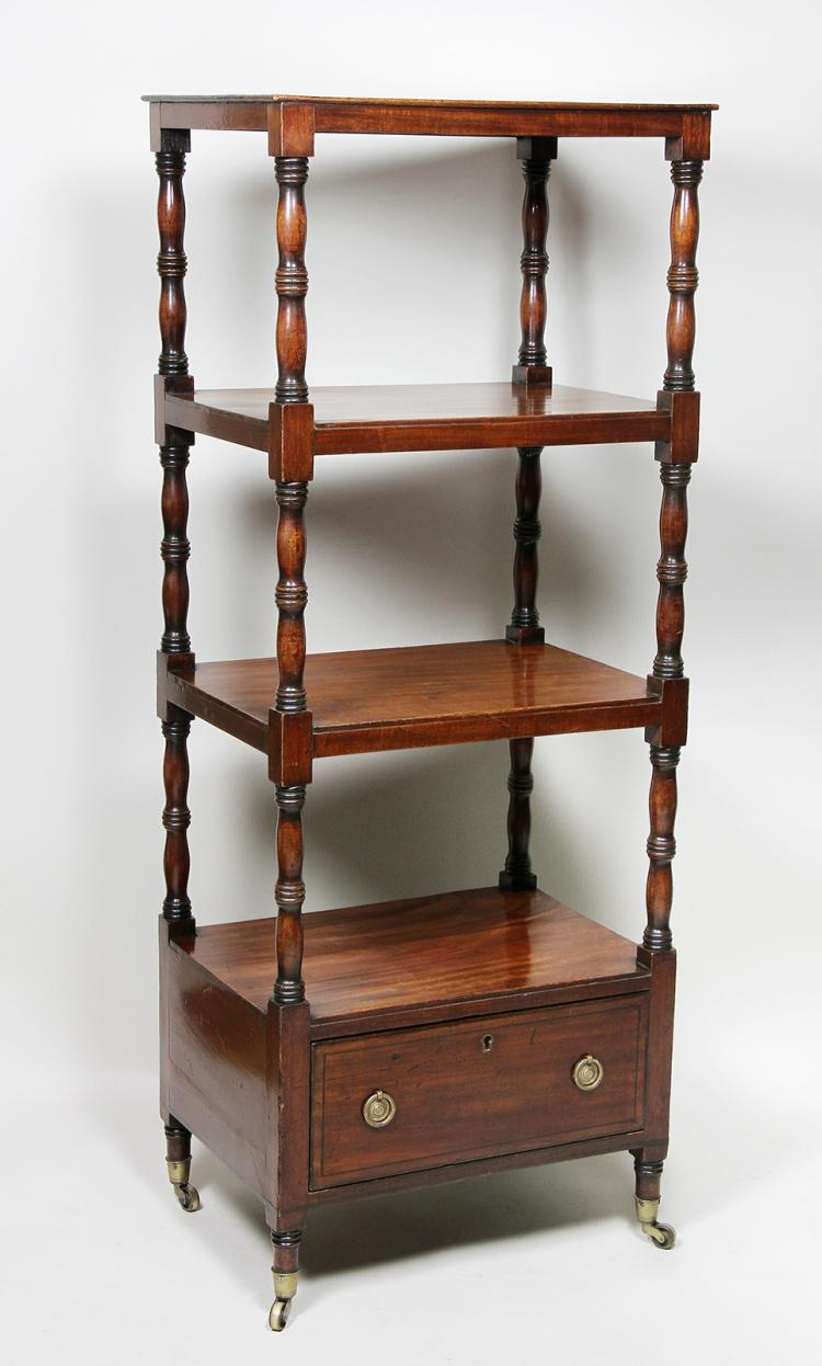 Regency Mahogany And Ebony Whatnot