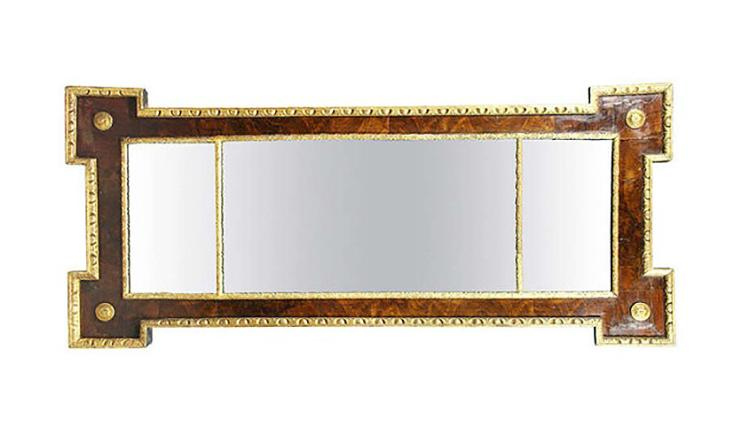 George I Style Walnut And Giltwood Mirror