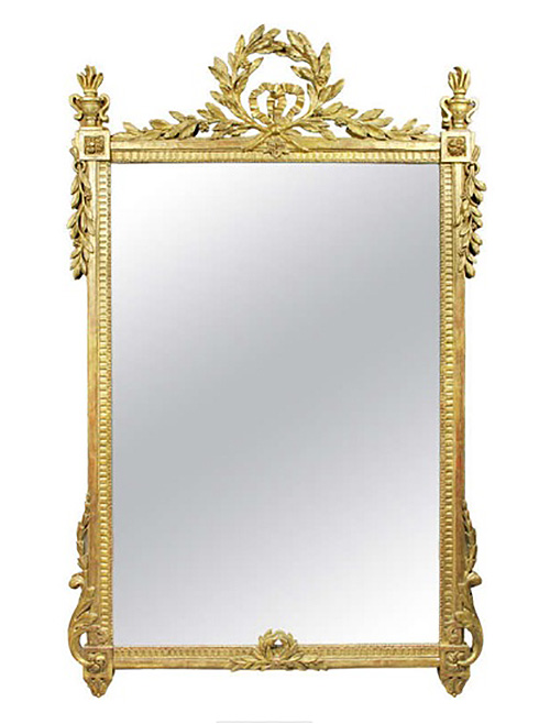 Large Louis XVI Giltwood Mirror