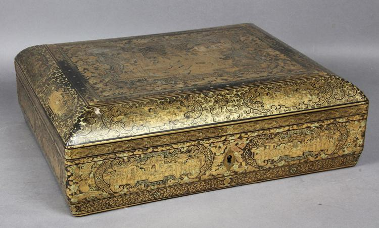 Fine Chinese Export Lacquer Game Box