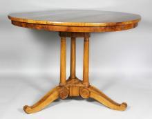 Biedermeier Fruitwood Center Table