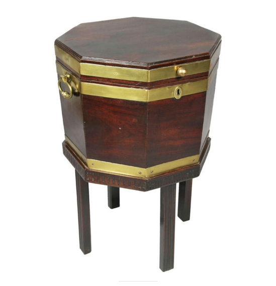 George III Mahogany And Brass Bound Cellerette