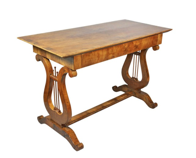 Biedermeier Fruitwood Sofa Table
