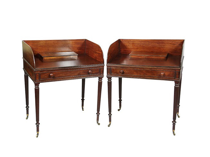 Pair Of Regency Mahogany Side Tables