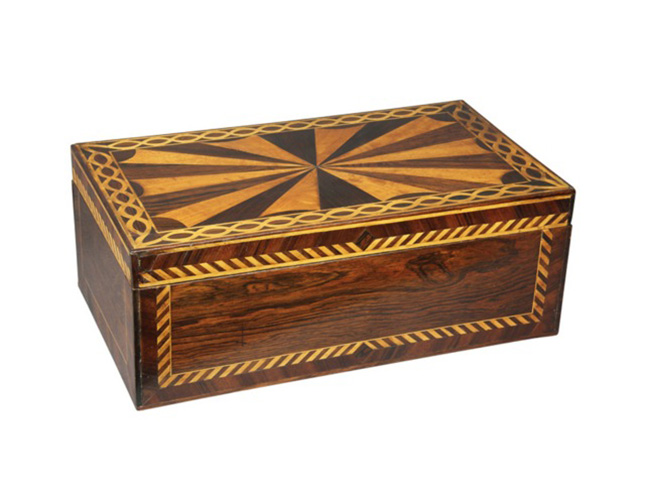 American Inlaid Rosewood Box