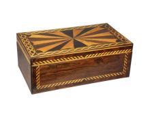American Inlaid Rosewood Box