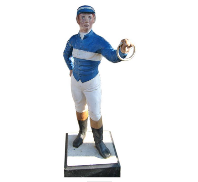 Cast Iron Horse Jockey Painted Hitching Post