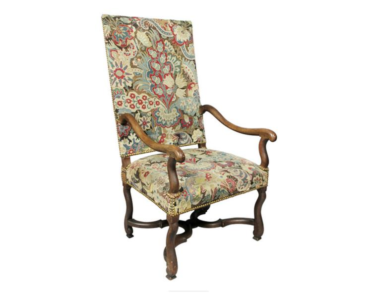 Louis XIII Walnut Armchair