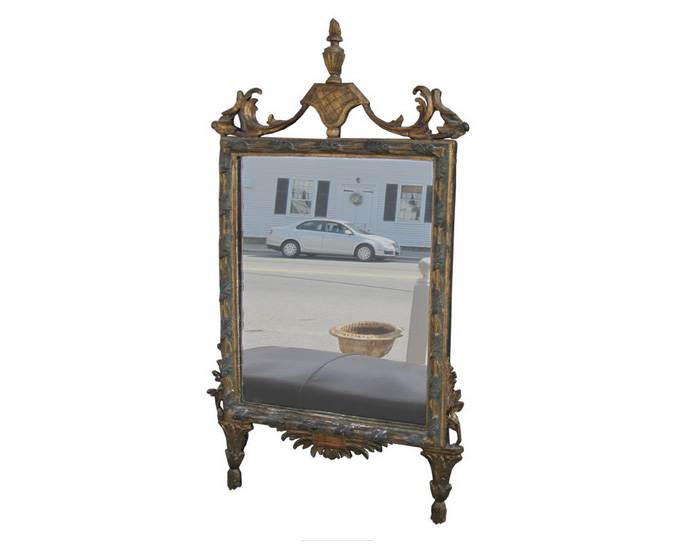Italian Neoclassic Giltwood and Painted Mirror