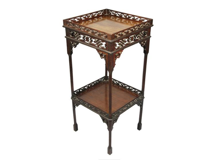 George III Style Mahogany Kettle Stand